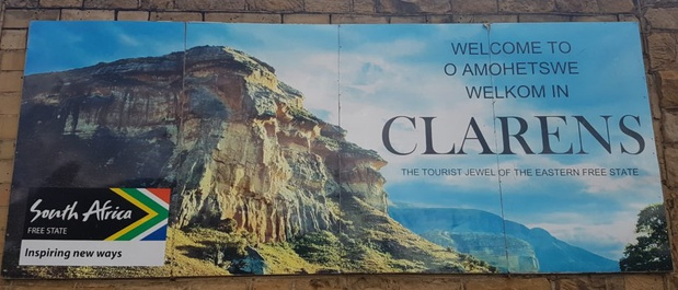 Welcome to Clarens Free State in Sesotho, English and Afrikaans